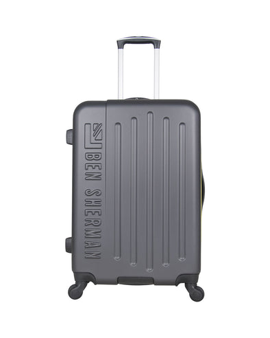 "Leicester 24"" Hardside Embossed Luggage - Charcoal/Sulphur"