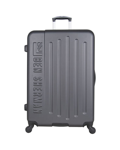 "Leicester 28"" Hardside Embossed Luggage - Charcoal/Sulphur"