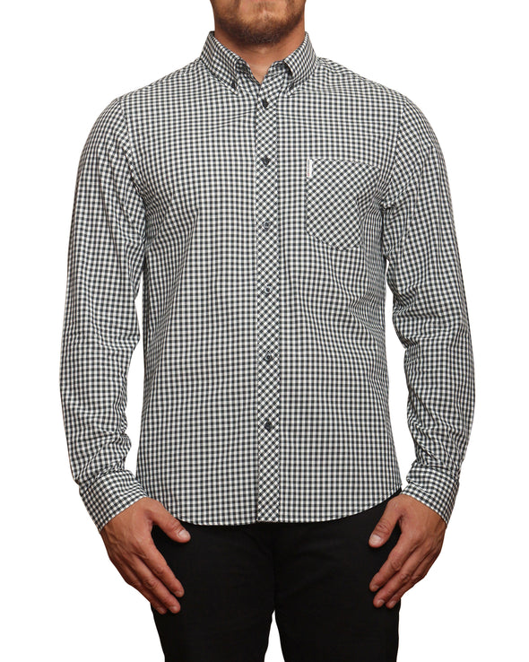 Long-Sleeve Core Gingham Shirt - Dark Green