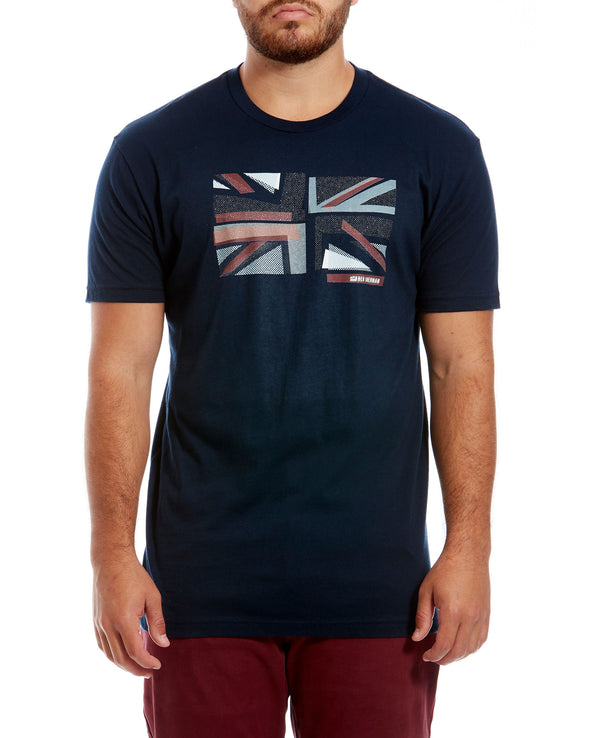 Union Collage Graphic Tee - Midnight Navy