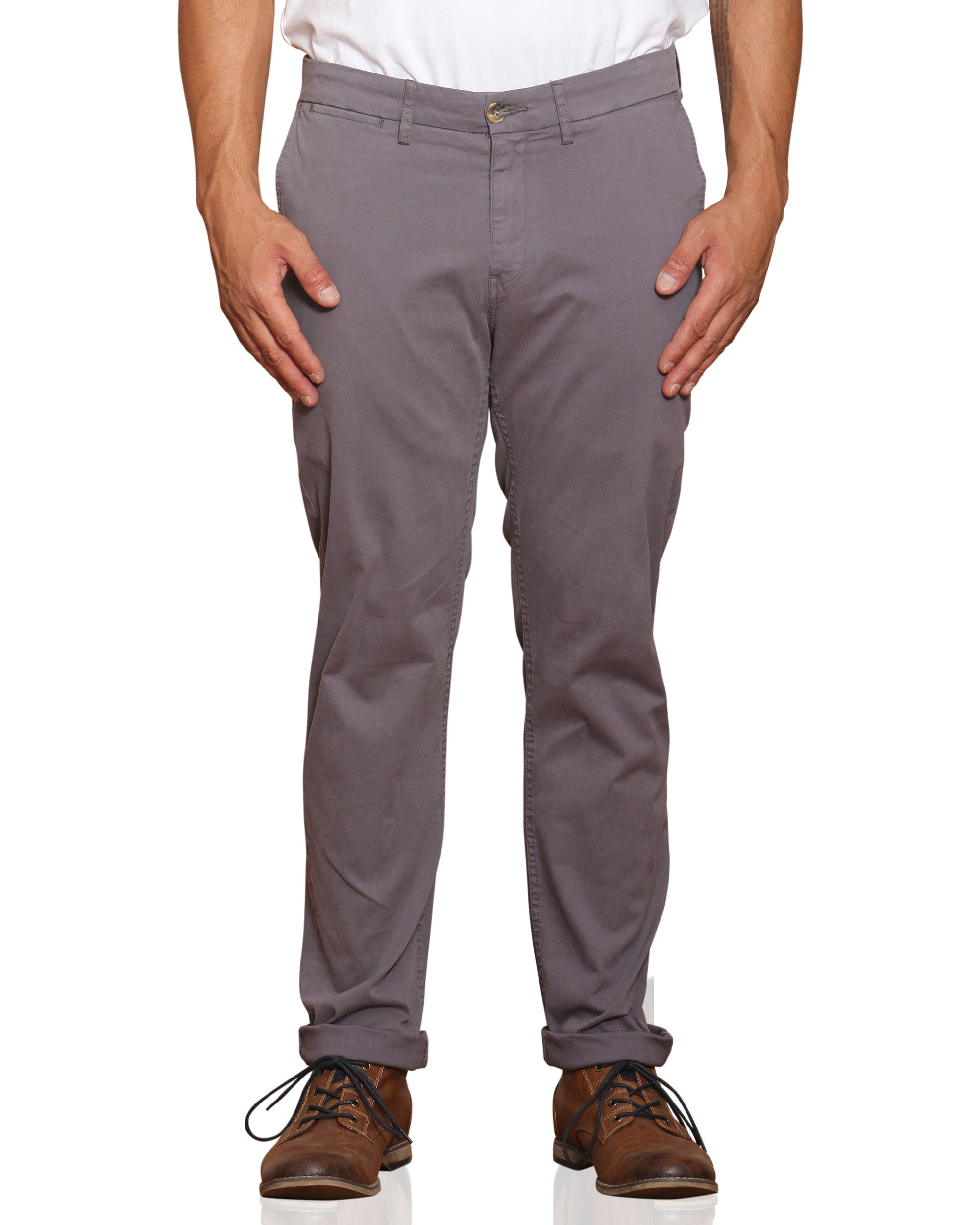 Core Slim Stretch Chino Pant - Steel Grey