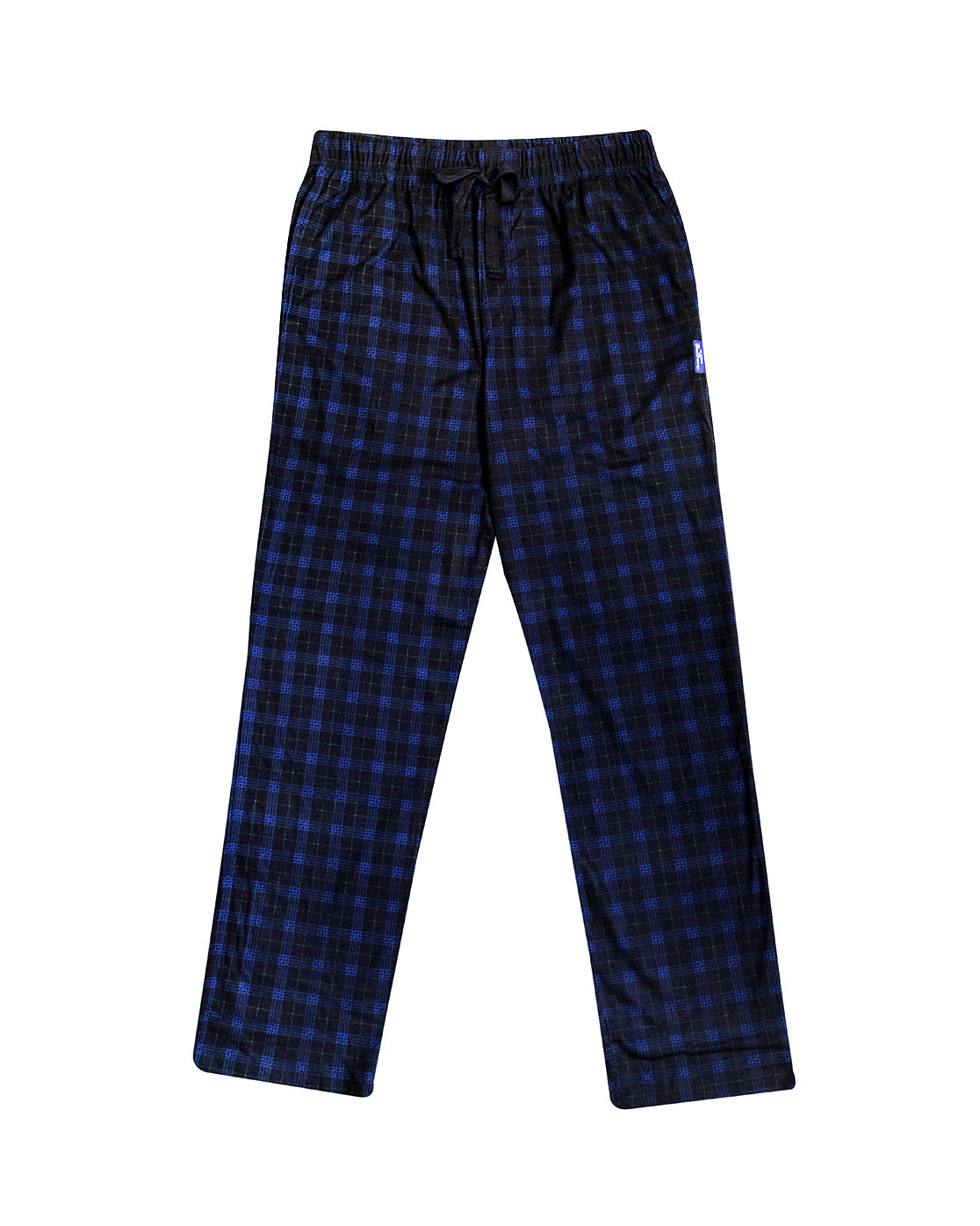 Men's Microfleece PJ Pants - Black/Blue