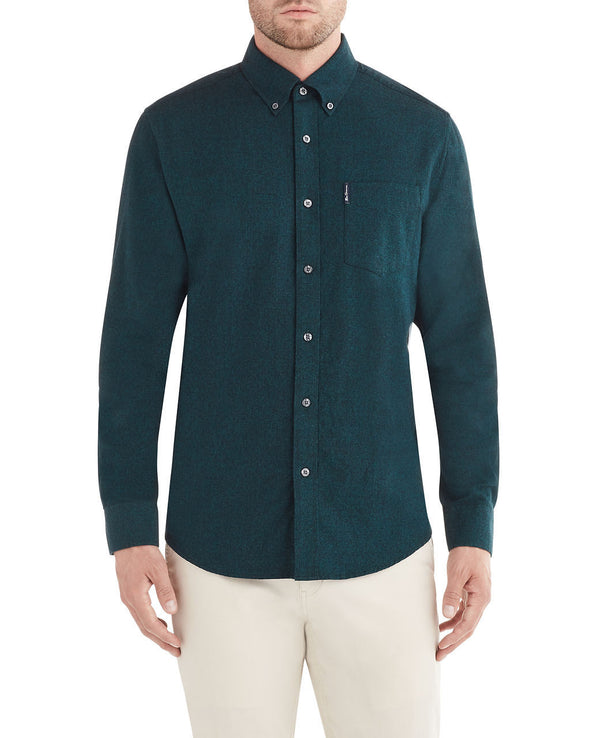 Long-Sleeve Twisted Brushed Shirt - Shaded Spruce