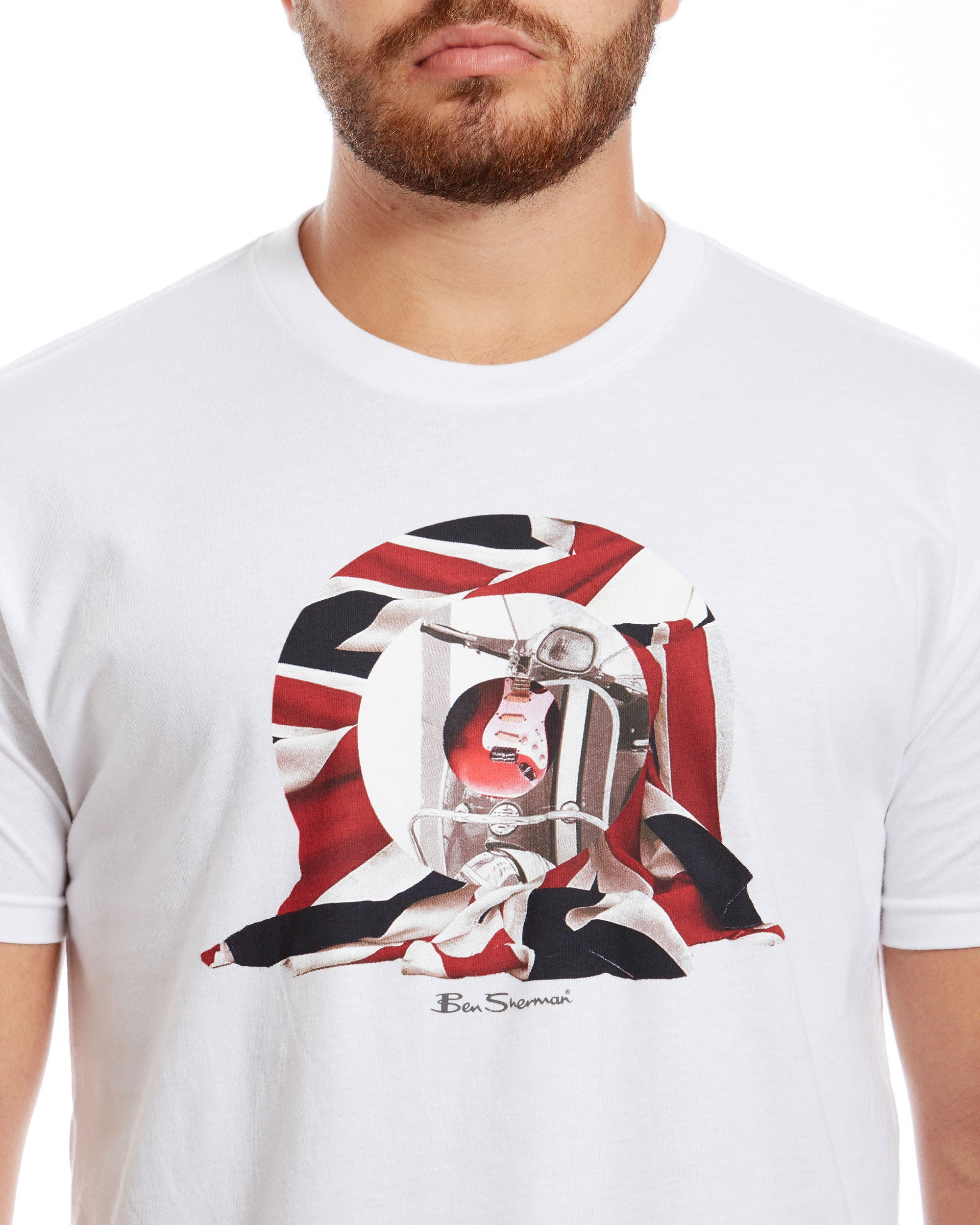 9bfc6e649 Scooter Target Graphic Tee - White – Ben Sherman