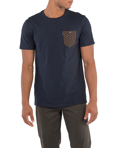 All Over Print Pocket Tee - Navy
