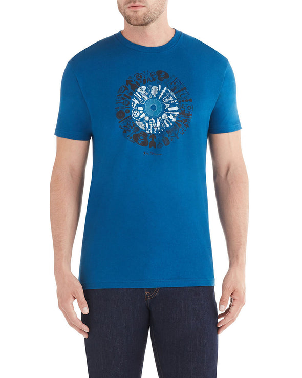 Elements Graphic T-Shirt - Cool Blue