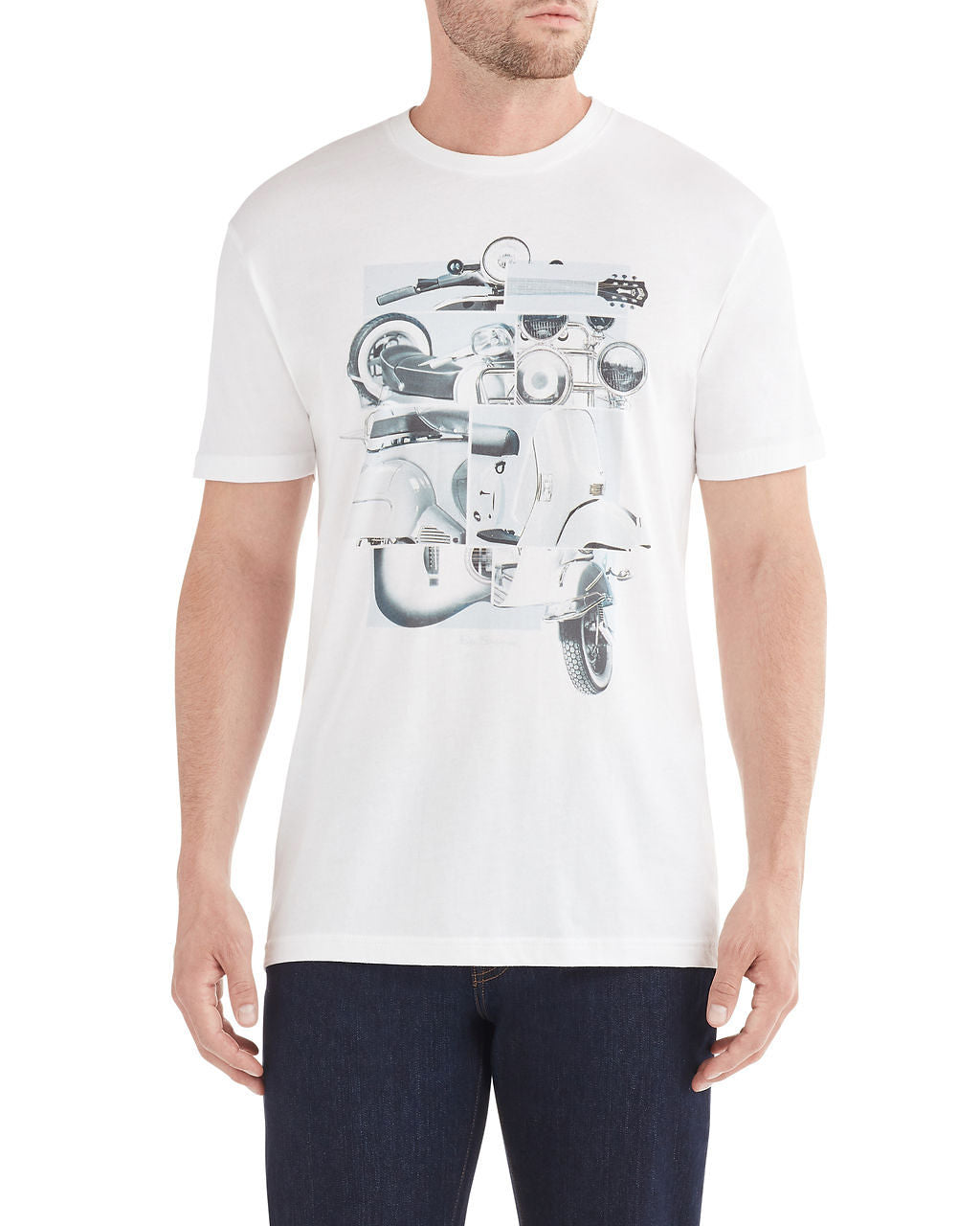 Panels Graphic T-Shirt - White