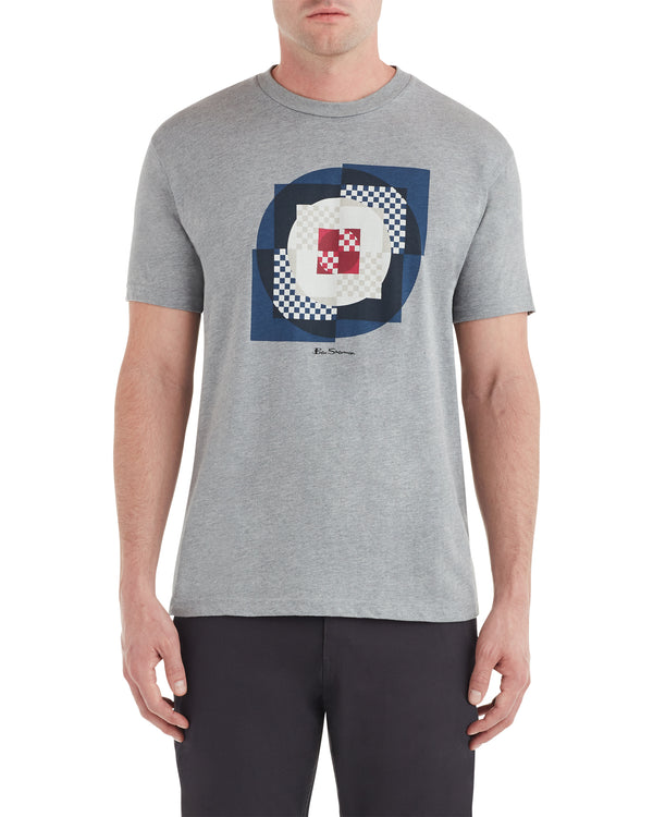 Square Target Graphic Tee - Heather Grey
