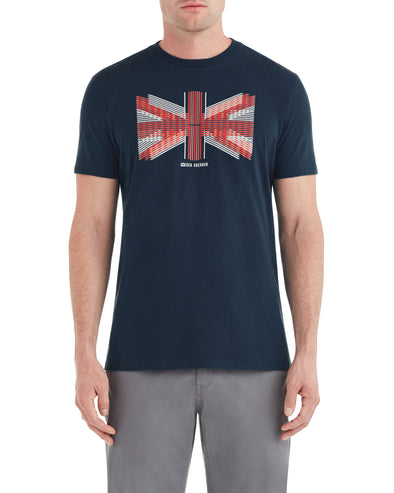 Union Jack Slice Graphic Tee - Navy