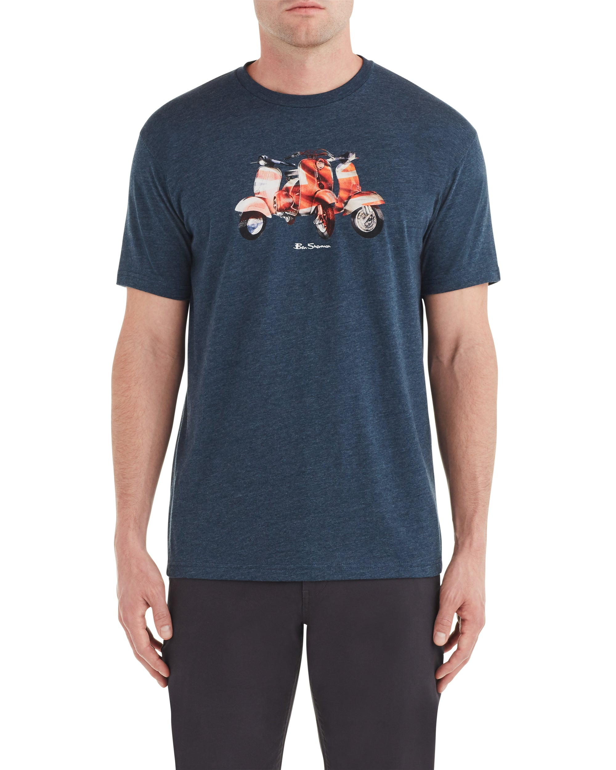 Triple Scooter Graphic Tee - Ink