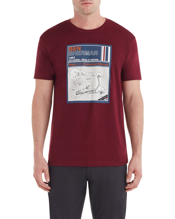 Manual Graphic Tee - Burgundy