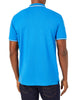 Script Tipped Pique Polo Shirt - Bright Blue/White