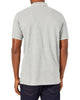 Script Tipped Pique Polo Shirt - Grey/White