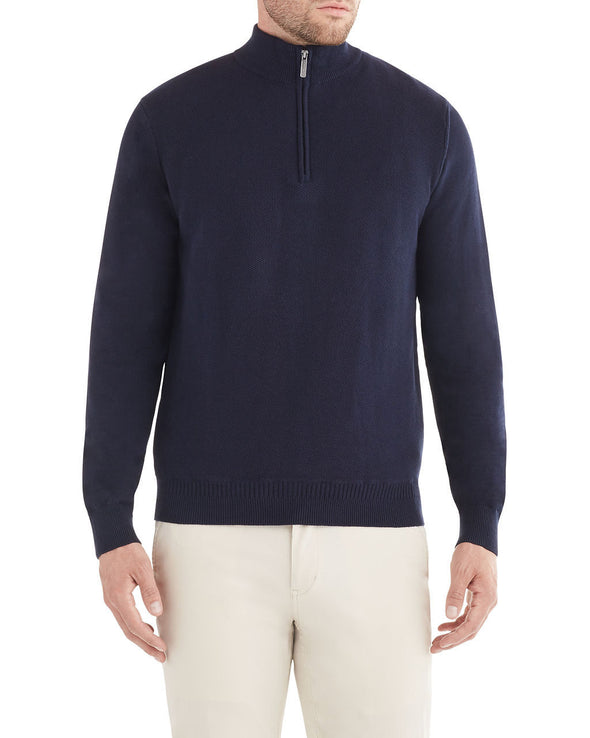 Quarter-Zip Pullover Sweater - Navy