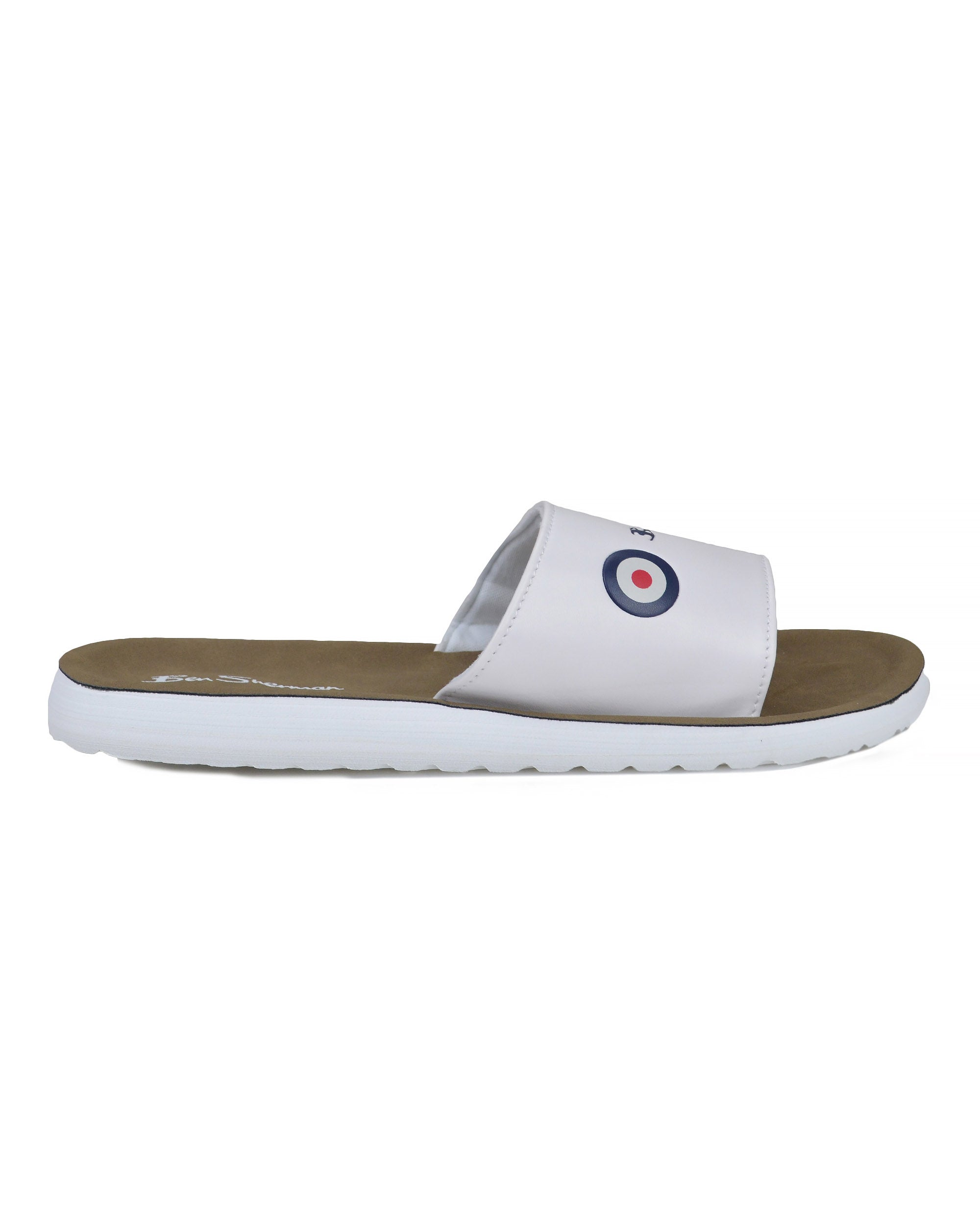 Daytona Cushioned Slide Sandals - White