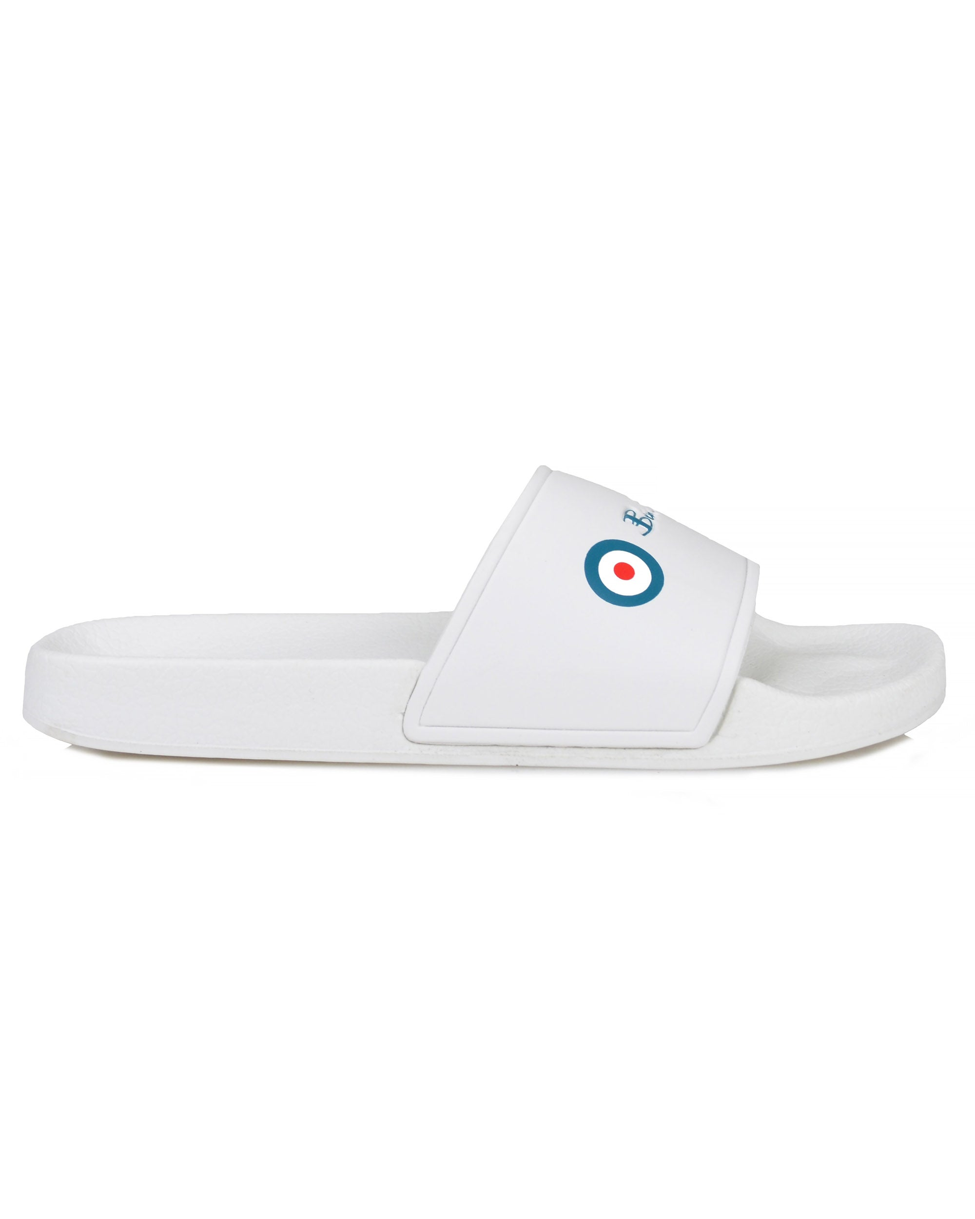 Logo Slip-On Pool Slide - White