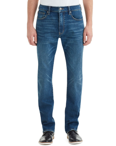 Men's Straight Leg Jeans, 32 Inseam - Distress Wash