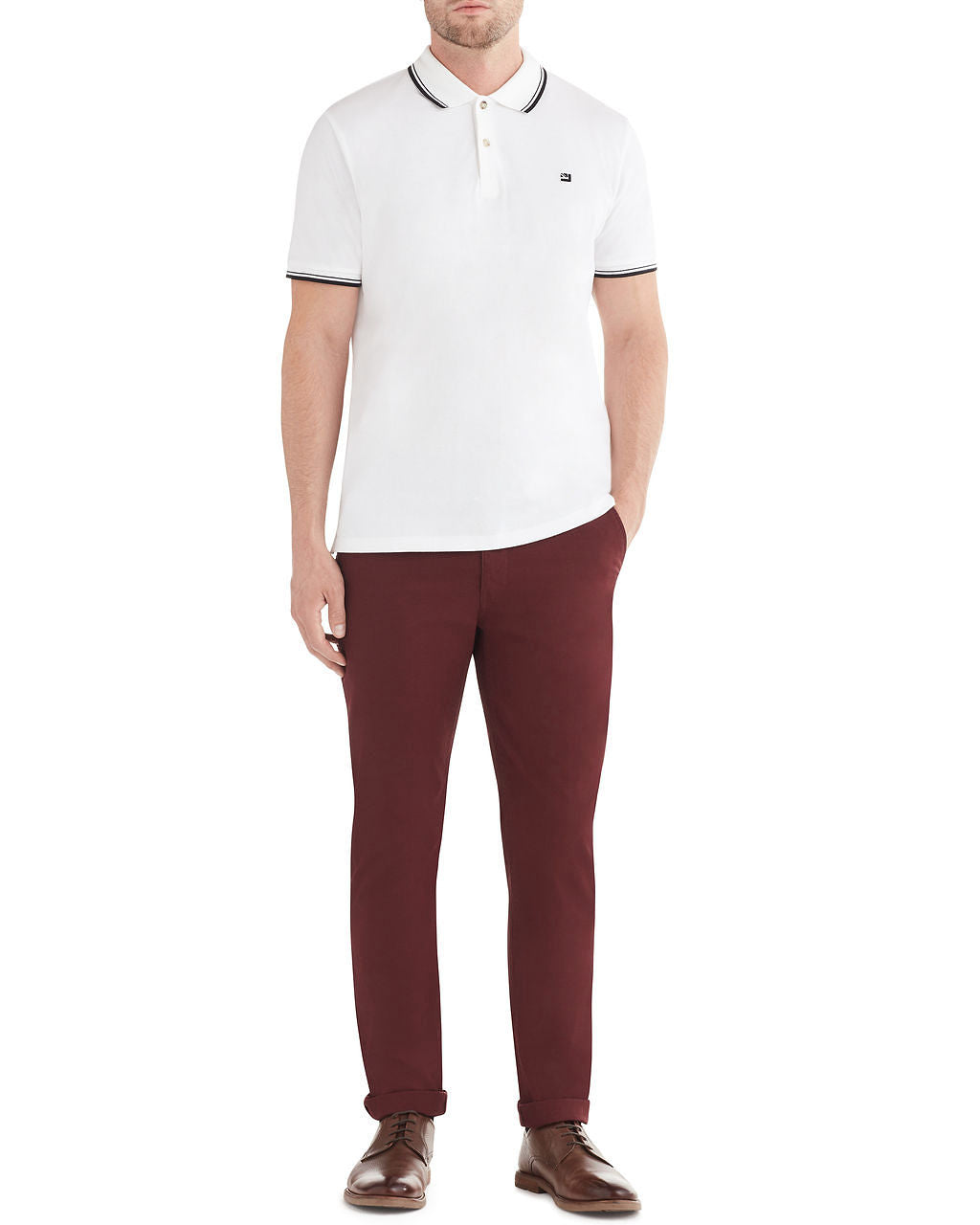 Slim Stretch Chino Pant - Wine