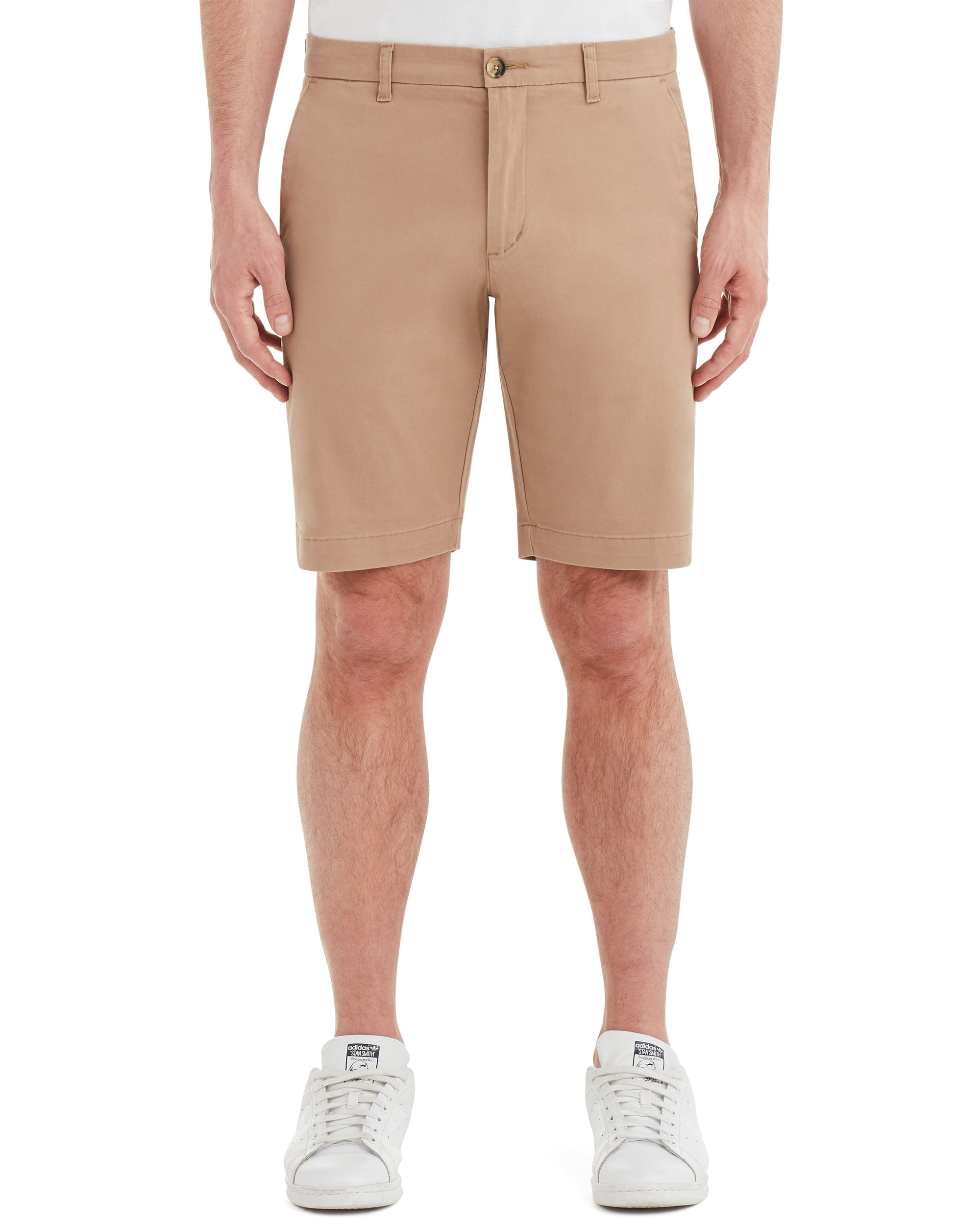 Brushed Stretch Cotton Short - Stone