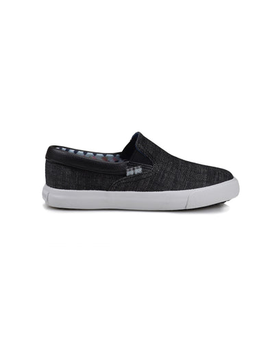 Boys' Jayme Slip-On Sneaker - Black Denim