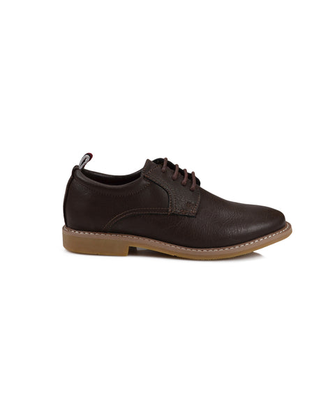 Boys' Brent Plain-Toe Oxford Shoe - Dark Brown