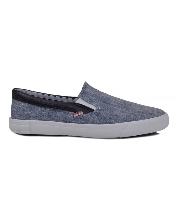 Pete Slip-On Sneaker - Navy Linen