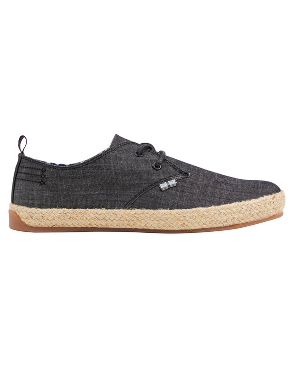 New Prill Two-Tone Oxford Sneaker - Black