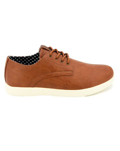 Parnell Vegan Leather Oxford Sneaker - Tan