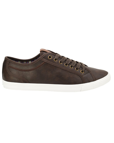 Chandler Lo Vegan Leather Sneaker - Dark Brown
