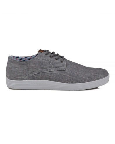 Payton Oxford Lace-Up Sneaker - Grey Chambray