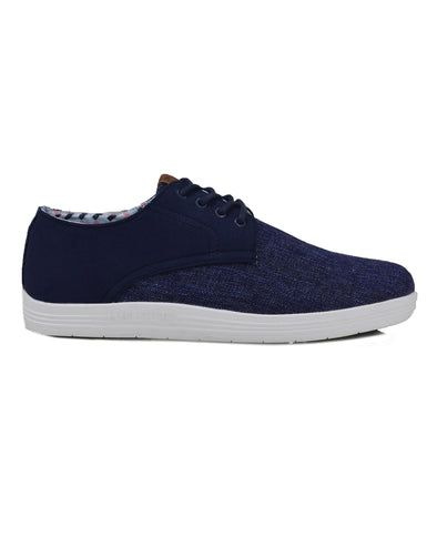 Payton Oxford Lace-Up Sneaker - Navy Linen