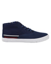 Percy Mixed-Media Chukka Sneaker - Navy