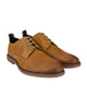 Brent Plain-Toe Leather Derby Shoe - Tan