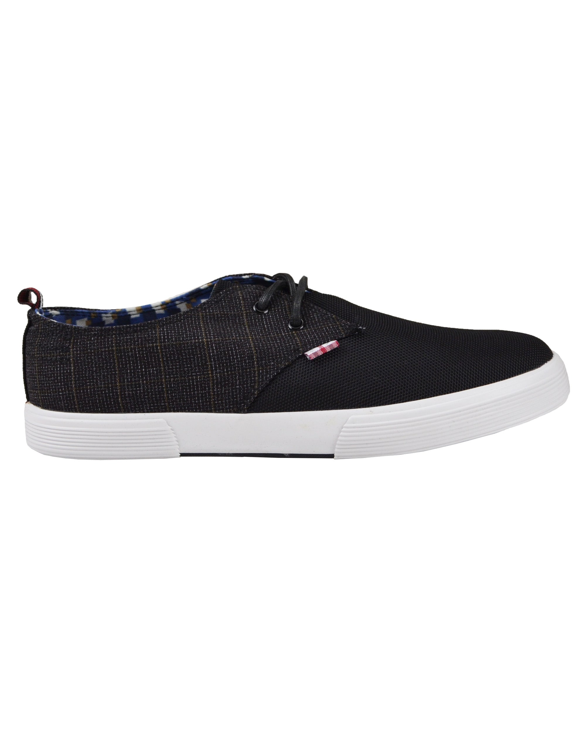 Bristol Mixed-Media Sneaker - Black