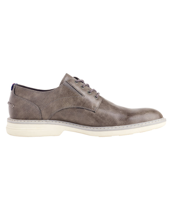 Countryside Vegan Leather Oxford - Dark Grey