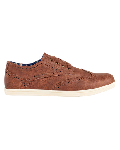 Nick Wingtip Oxford Sneaker - Chestnut