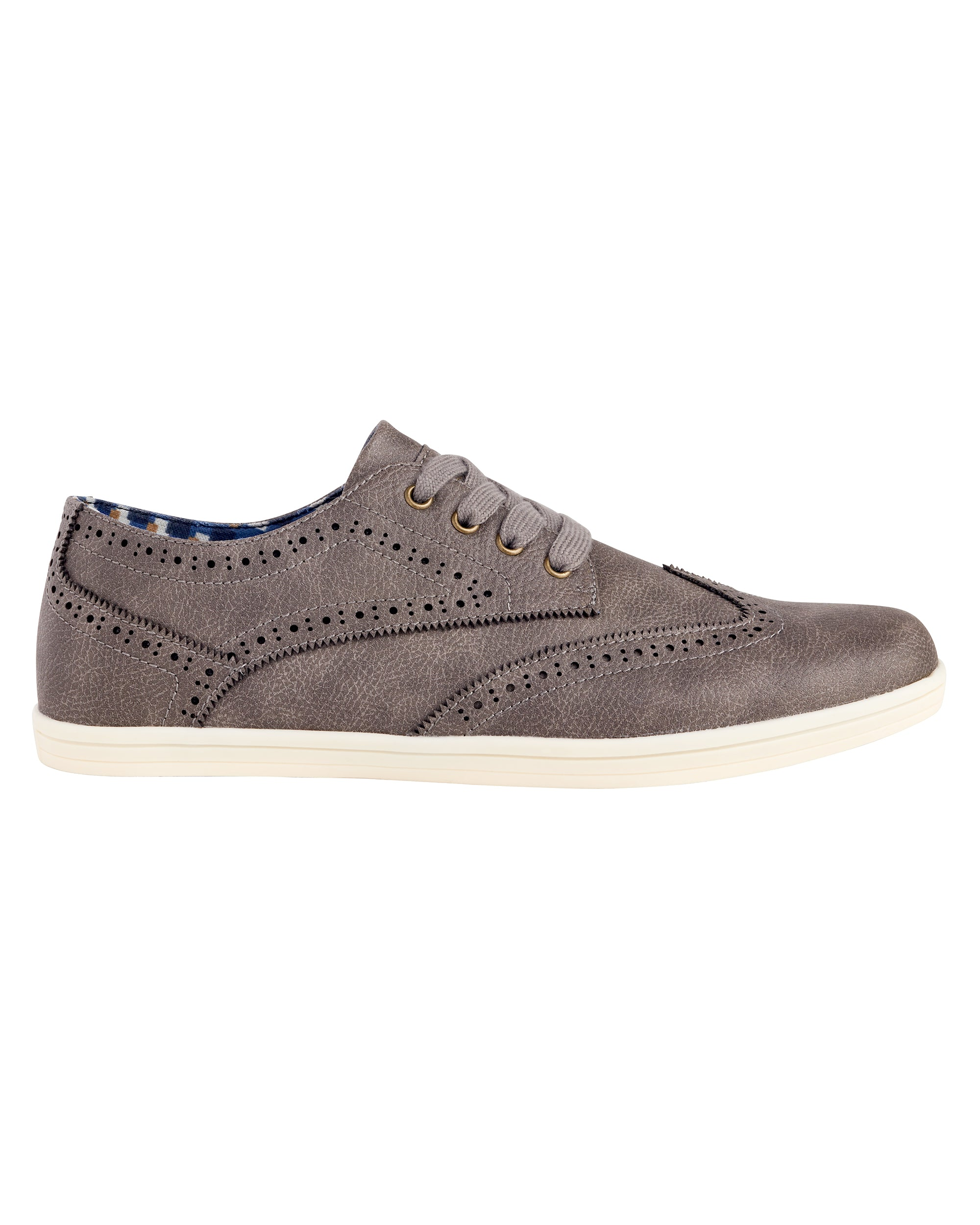 Nick Wingtip Oxford Sneaker - Light Grey