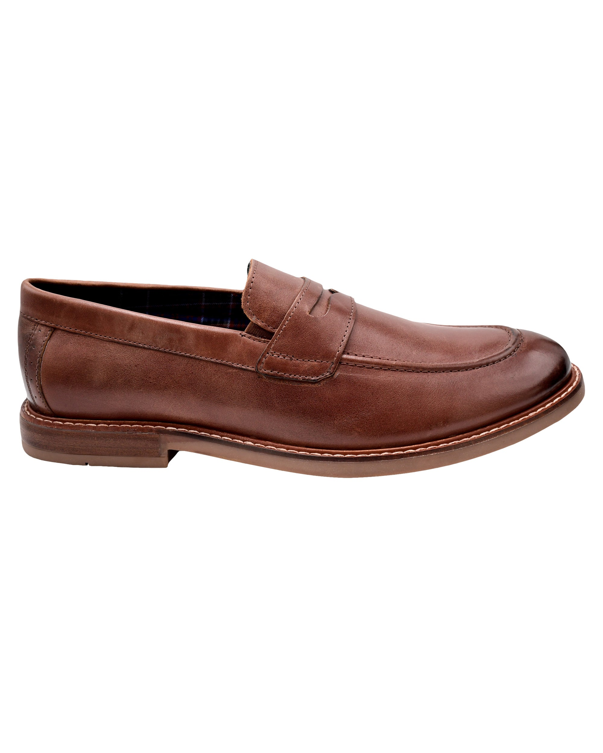 Birk Moc-Toe Leather Penny Loafer - Brown