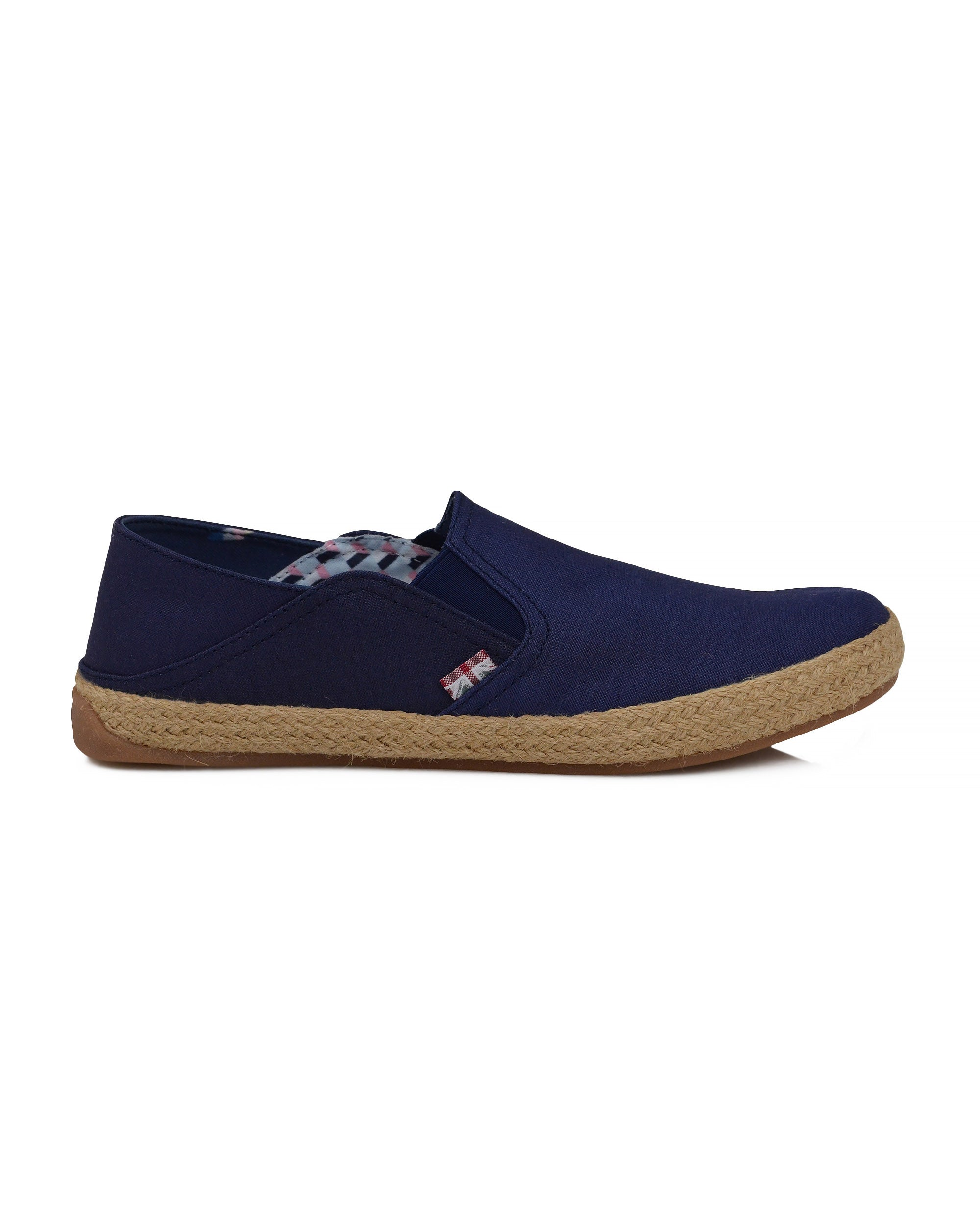 Prill Heel Slip-On  - Navy Canvas