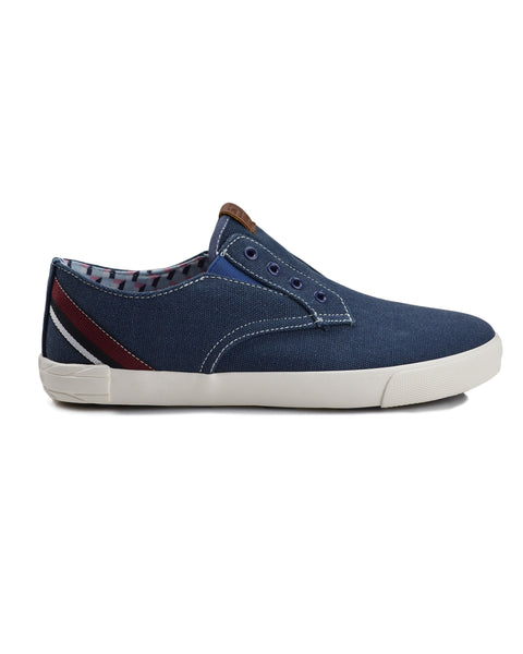 Pete Laceless Canvas Sneaker - Navy Canvas