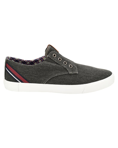 Pete Laceless Textile Sneaker - Black