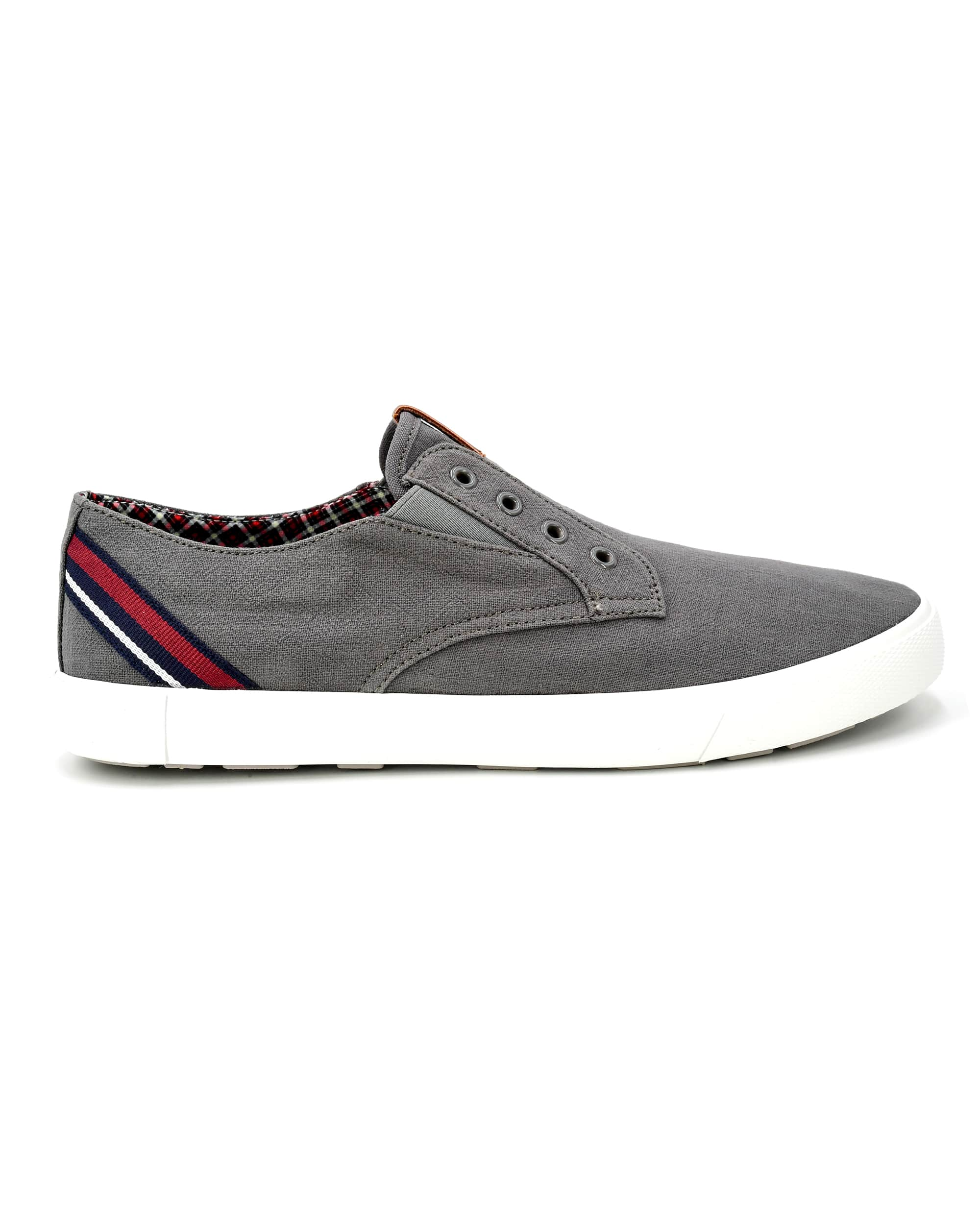 Pete Laceless Linen Sneaker - Grey