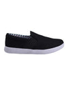 Parnell Gingham Slip-On Sneaker - Black Mesh