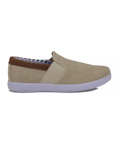 Parnell Gingham Slip-On Sneaker - Natural Canvas