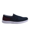 Parnell Mini-Check Mesh Slip-On Sneaker - Navy