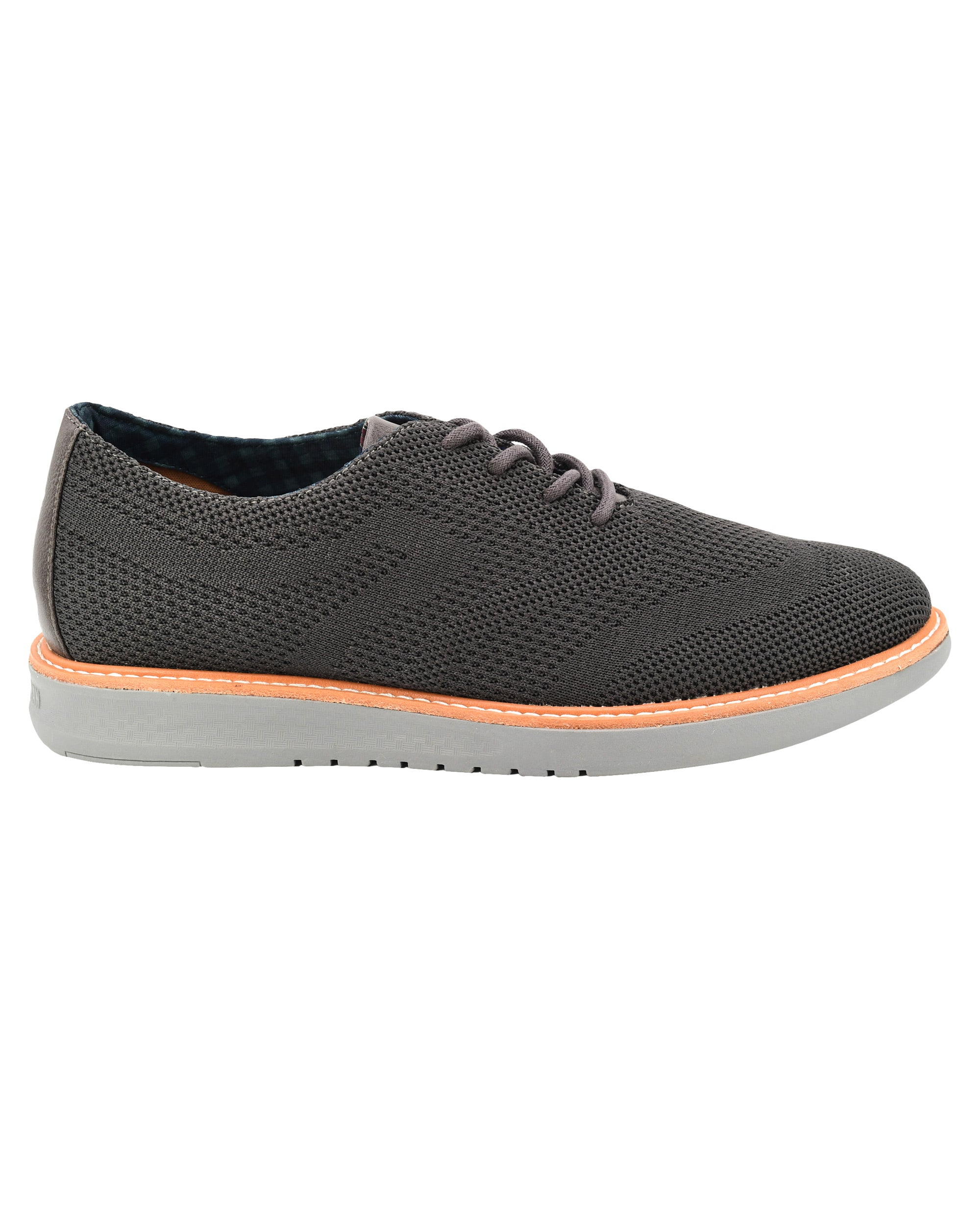 Nu Casual Knit Wingtip Sneaker - Charcoal