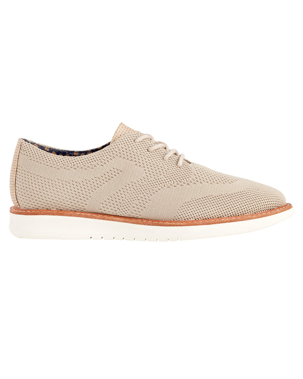 Nu Flyknit Casual Wingtip Shoe - Taupe