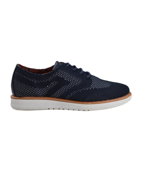 Nu Flyknit Casual Wingtip Shoe - Navy Blue