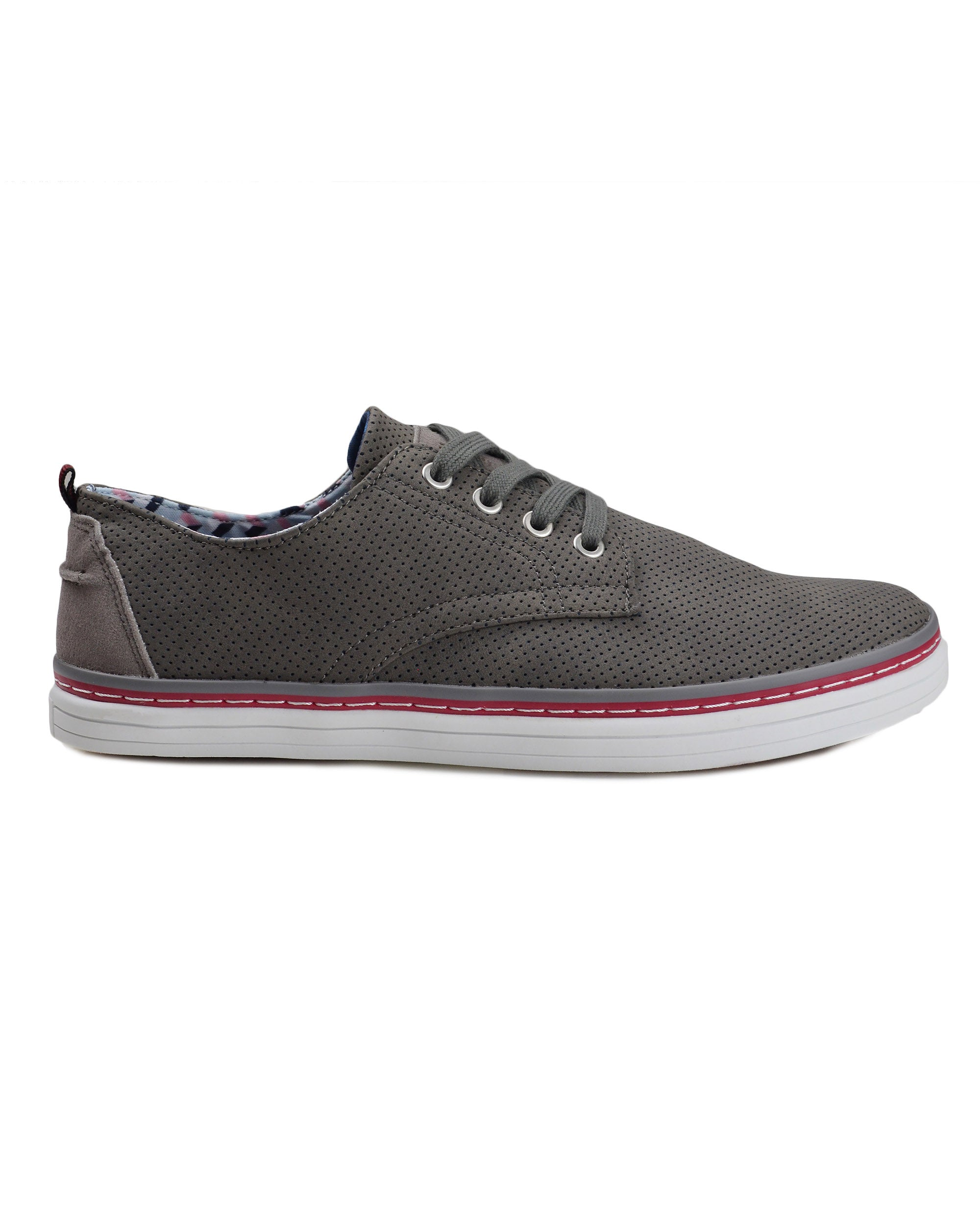 Bulldog Derby Plain Toe Shoe - Dark Grey