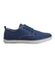 Bulldog Derby Plain Toe Shoe - Navy Canvas